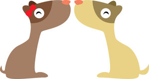 Two dog in love. Illustration of two dogs in love Royalty Free Stock Image