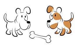 Two dog vector Royalty Free Stock Image