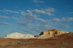 Two Dogs. The Breakaways, Coober Pedy, South Australia stock photos