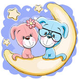 Two Dogs on the moon Stock Images