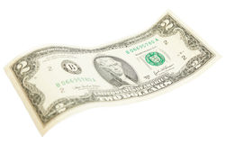 Two dollar bill. On white background stock photo