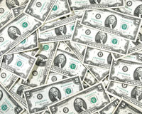 Two dollar Bill Collage. Collage of two dollar bills laying across each other Stock Photography