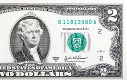 Two dollar bill issued in 2003 to commemorate the bicentenary U. S stock photo