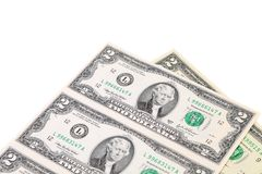Two-dollar bills. Stock Images