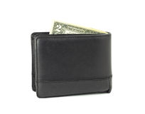 Two dollar in wallet Stock Photo