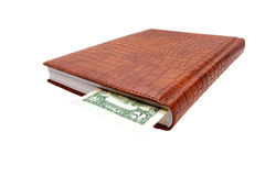 Two dollars bill as a bookmark Stock Photo