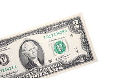 Two dollars bill Royalty Free Stock Images