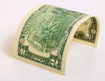 Two dollars. Royalty Free Stock Photo