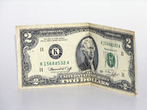 Two dollars. Two-dollar banknote 1986 release Stock Photo