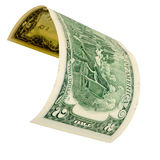 Two dollars isolated. Royalty Free Stock Photo