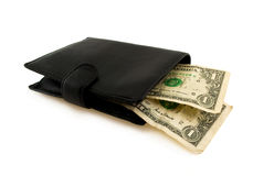 Two dollars in wallet Royalty Free Stock Image