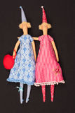 Two dolls. The photo shows the two rag-dolls Royalty Free Stock Images