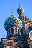 Two Domes Church Savior on Spilled Blood Royalty Free Stock Photo