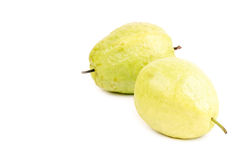Two dominican guavas isolated on white Stock Photos