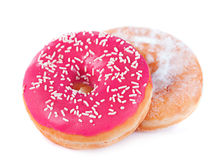 Two donut Royalty Free Stock Photos