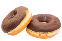 Two donut, isolated Stock Photography