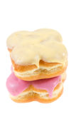 Two donut on isolated. Two donut with glaze isolated on white Stock Images