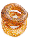 Two Donut isolated Royalty Free Stock Photo