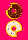 Two donuts Stock Photography