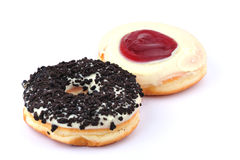 Two donuts Stock Photo