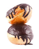Two donuts in chocolate Royalty Free Stock Photography