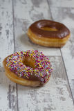 Two donuts Royalty Free Stock Image