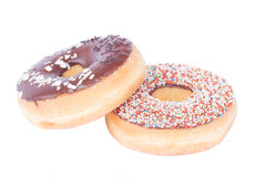 Two donuts Royalty Free Stock Photo