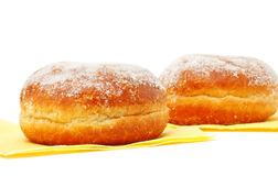 Two Donuts In Powdered Sugar Royalty Free Stock Photo