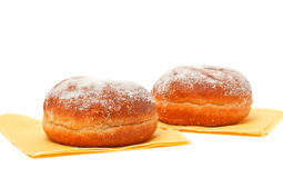 Two donuts in powdered sugar Stock Photos