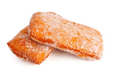 Two donuts in powdered sugar Royalty Free Stock Images