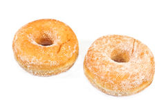 Two donuts powdered with suger Royalty Free Stock Image
