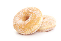 Two donuts on white Stock Photos