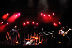 Two Door Cinema Club band performs at Matadero de Madrid Stock Photography