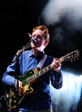 Two Door Cinema Club (Northern Irish indie rock band) performs at Matadero de Madrid Stock Photography