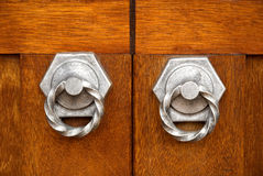 Two door handles Royalty Free Stock Image