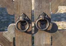 Two Door Knobs of Simple Rings Stock Photography