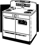 Two Door Stove Royalty Free Stock Images