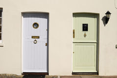 Two doors in Arundel.  Sussex. UK Stock Photography