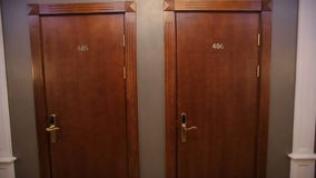 Two Doors in Hotel stock video