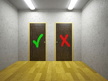 Two doors Royalty Free Stock Image
