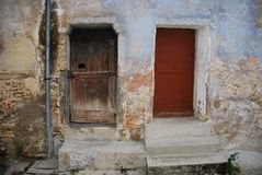Two Doors in Topolo Royalty Free Stock Photos