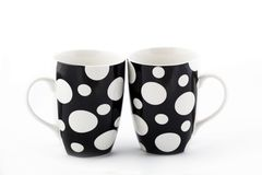Two dot cups Royalty Free Stock Images