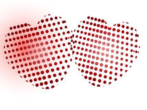 Two dotted heart Stock Photography
