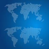 Two dotted world maps Stock Photo