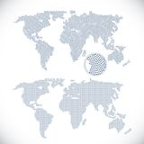 Two dotted world maps Stock Images