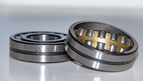 Two double row spherical roller bearings Royalty Free Stock Images
