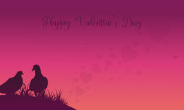 Two dove valentine theme backgrounds Stock Images