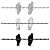 Two doves on a wire. An a vector illustration of two doves on a wire . Files included: Illustrator 8 EPS and JPG Vector Illustration