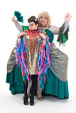 Two drag queens having fun performing together Stock Images