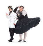 Two drag queens performing together Stock Image